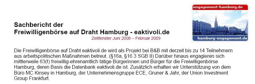 Sachbericht der Freiwilligenboerse auf Draht - eaktivoli.de